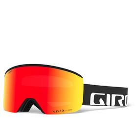 Giro Axis Svømmebriller Herrer, black/vivid ember/vivid infrared